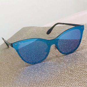 Ray-Ban Blaze Cat Eye Blue Mirror Sunglasses